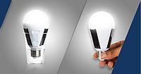 Лед лампа 12 Вт Е 27 аварийного освещения  85 - 265 Вольт с солнечной панелью.