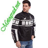 Мото куртка текстилная Honda Resing біло чорна розміри M L XL XXL