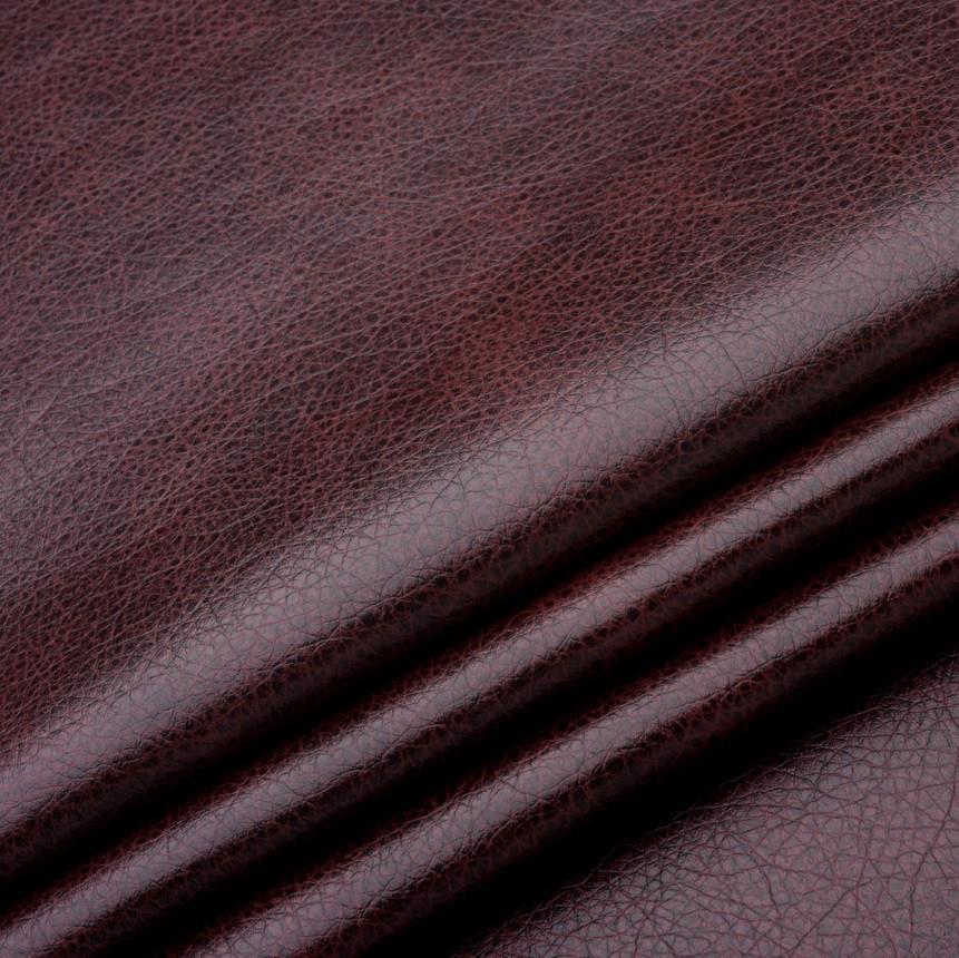 Кожзаменитель для мебели Лавина бордового цвета