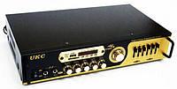 Усилитель звука стереоусилитель UKC AV-121BT с караоке и Bluetooth