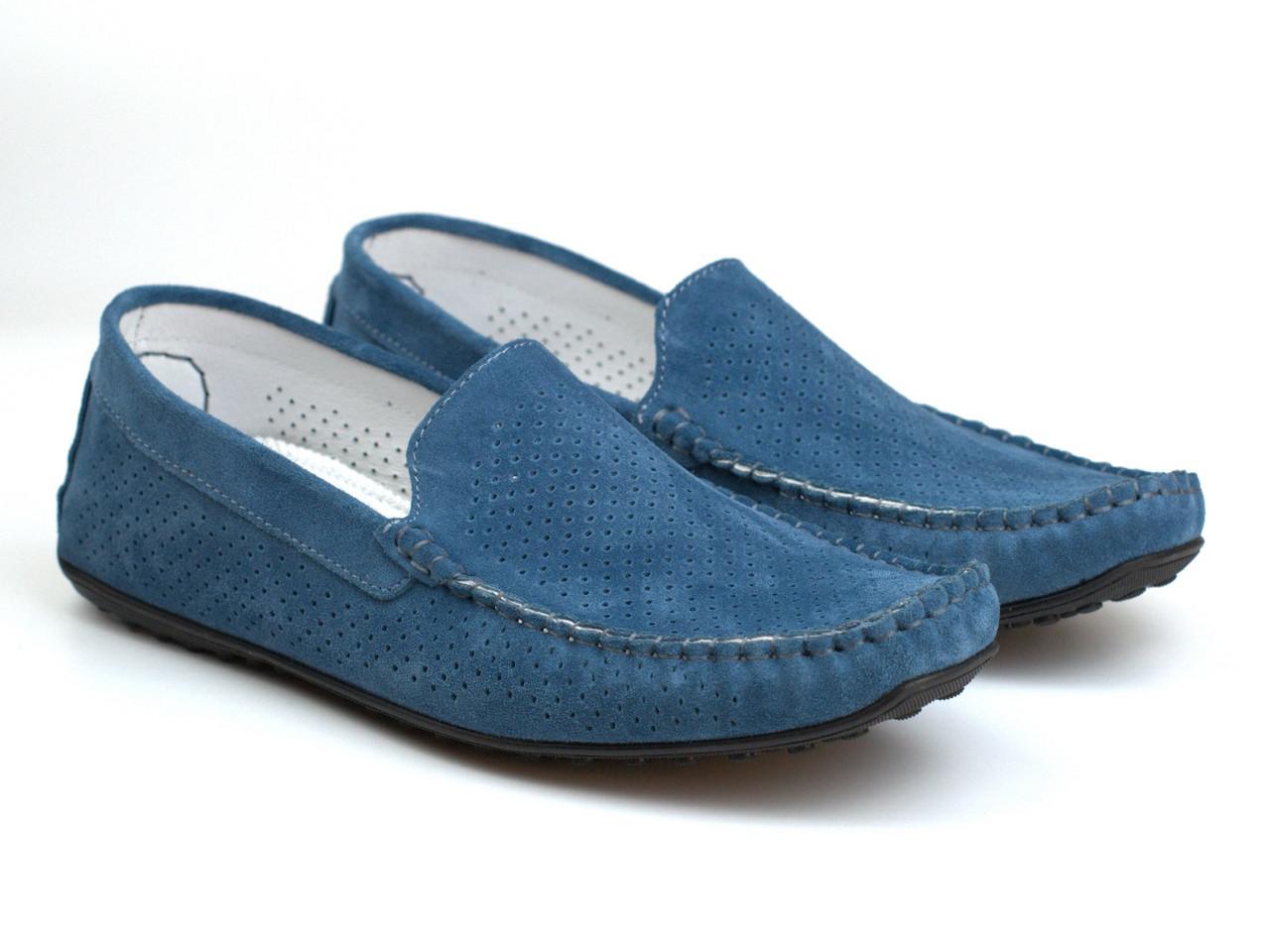Летние синие мокасины замшевые обувь больших размеров мужская Rosso Avangard BS SE Alberto Blu Lagoon Perf
