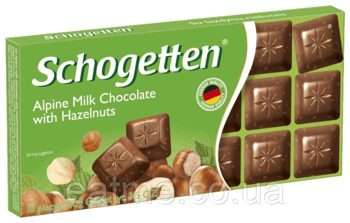 Schogetten Молочный шоколад с дроблённым фундуком