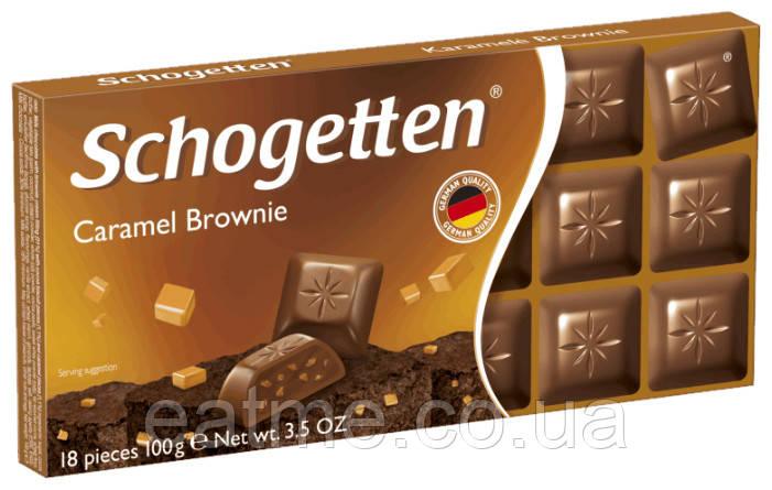 Schogetten Молочный шоколад с кусочками карамельного брауни