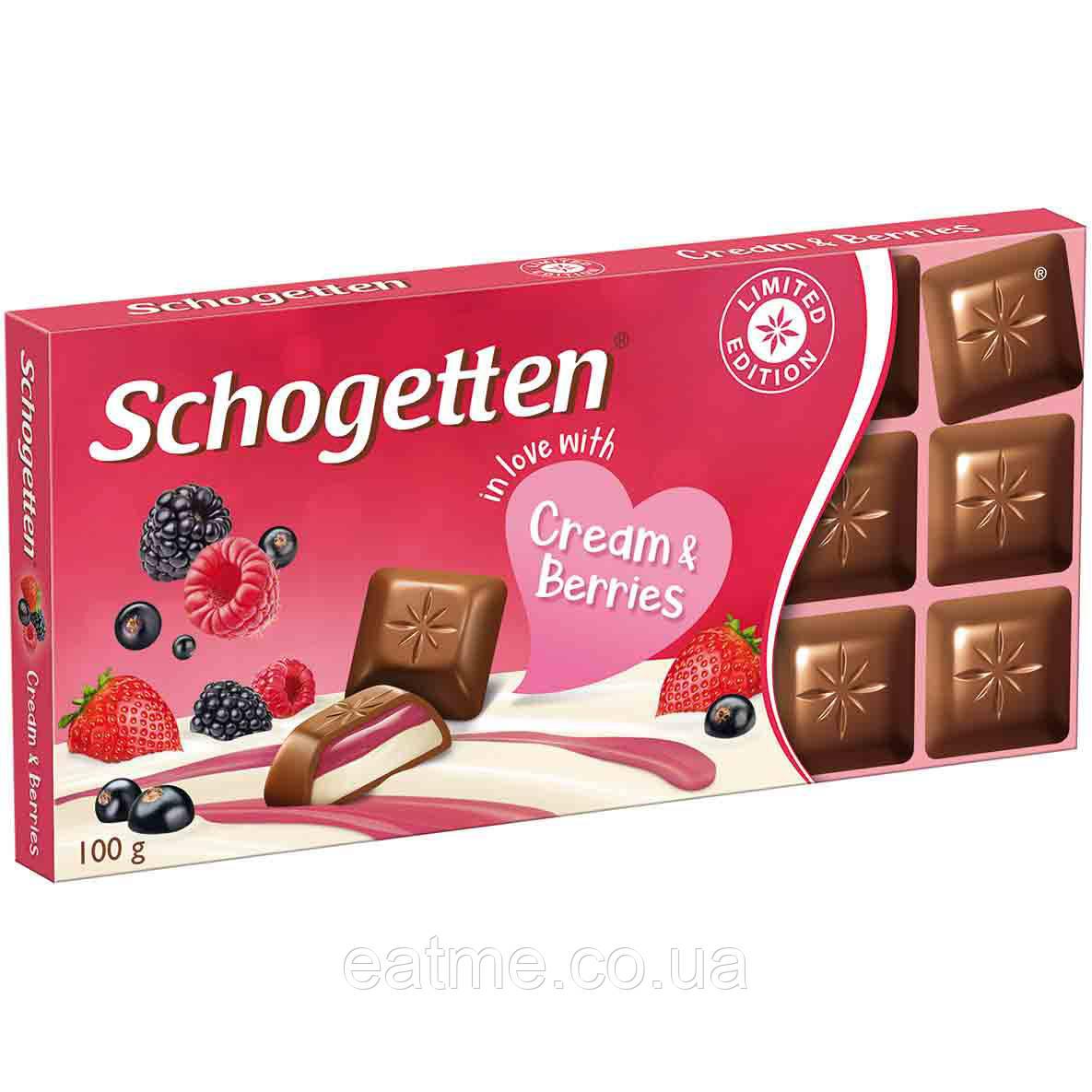 Schogetten Молочный шоколад со сливочным кремом и ягодами