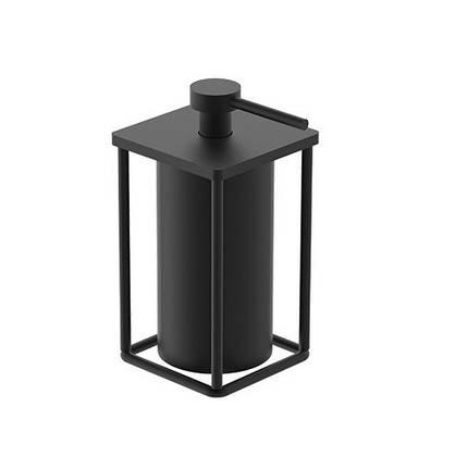 Дозатор для рідкого мила окремостоячий, чорний матовий 7030120B UP, фото 2