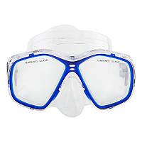Маска для подводного плавания Dolvor Поликарбонат Обтюратор PVC Закаленное стекло Синий (СМИ M276P)