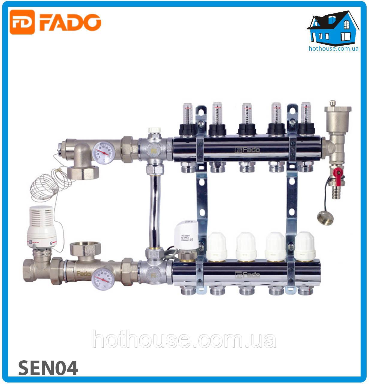 Комплект для подключения системы теплый пол FADO SEN04 FLOOR 4 выхода