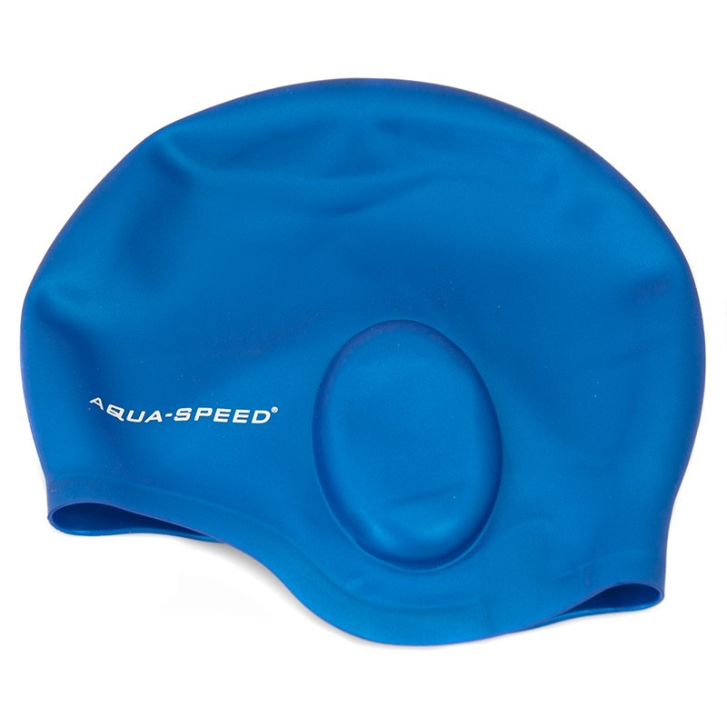 Шапочка для плавания с ухом Aqua Speed Ear (original) для бассейна, силикон