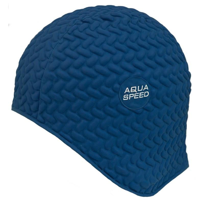 Шапочка для плавання Aqua Speed Bombastic Tic-Tac (original) для басейну, латекс, для довгих волосся