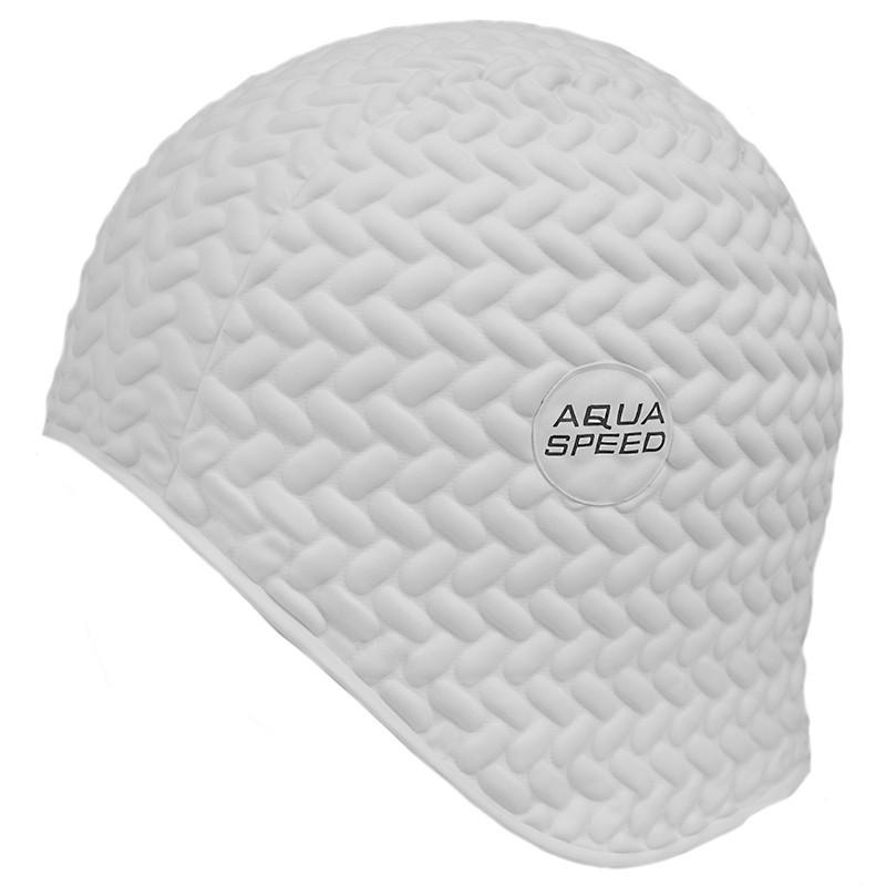 Шапочка для плавания Aqua Speed Bombastic Tic-Tac (original) для бассейна, латекс, для длинных волос