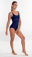Закрытый женский купальник спортивный Aqua Speed Cora (original), цельный, слитный, для бассейна, фото 1