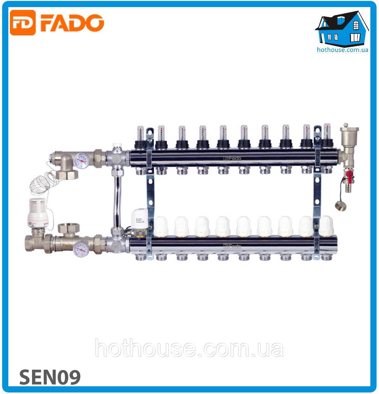 Комплект для подключения системы теплый пол FADO SEN09 FLOOR 9 выходов