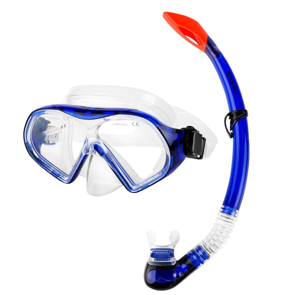 Маска для плавания Spokey Celebes 928189 (original), комплект с трубкой, маска для ныряния