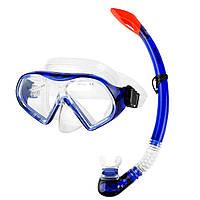 Маска для плавания Spokey Celebes 928189 (original), комплект с трубкой, маска для ныряния, фото 1