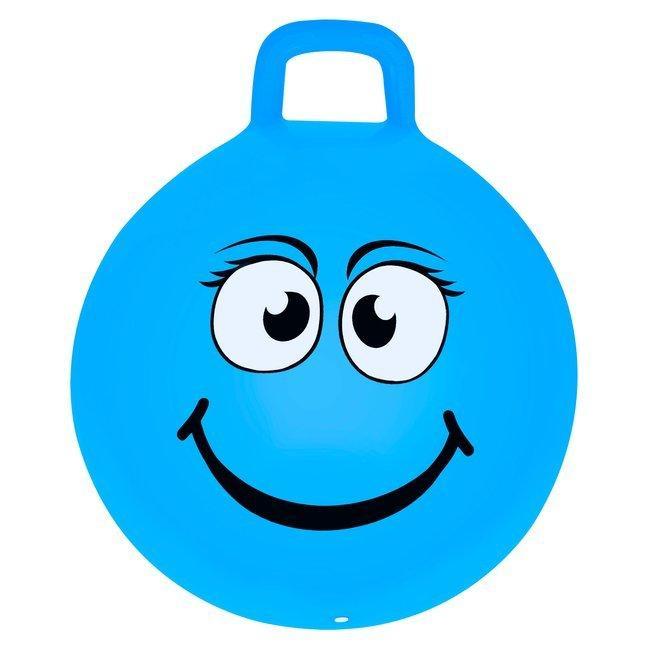 М'яч-стрибун дитячий з ручкою Spokey Emoti2 45см 925486, дитячий фітбол, гімнастичний м'яч для фітнесу