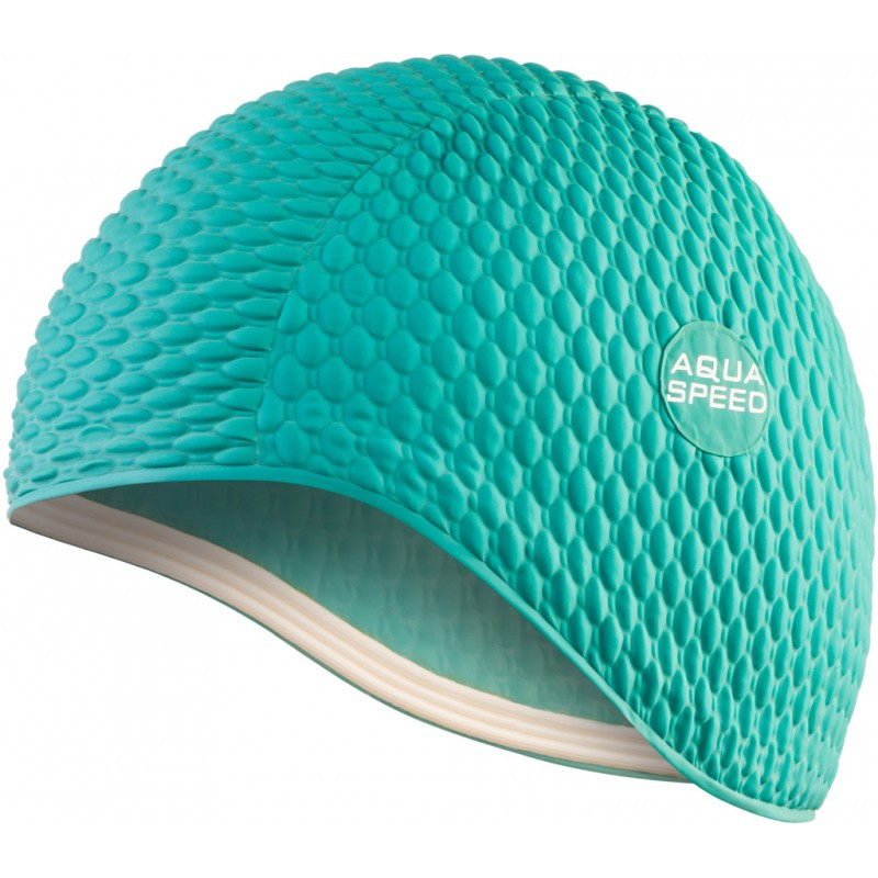 Шапочка для плавання Aqua Speed Bombastic (original) для басейну, латекс, для довгих волосся