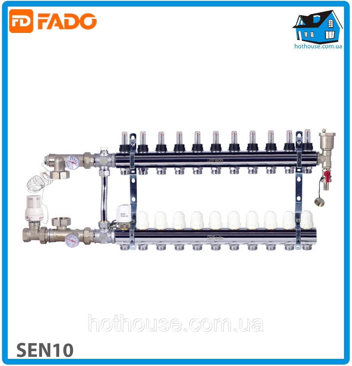 Комплект для подключения системы теплый пол FADO SEN10 FLOOR 10 выходов