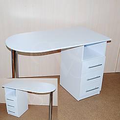 Стол для мастера маникюра. 105*55 высота 73 см.