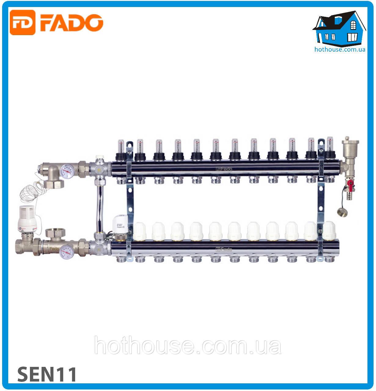 Комплект для подключения системы теплый пол FADO SEN11 FLOOR 11 выходов