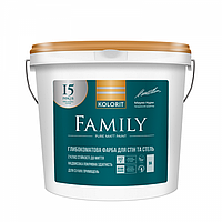 Краска потолочная Family Kolorit 4,5 л.