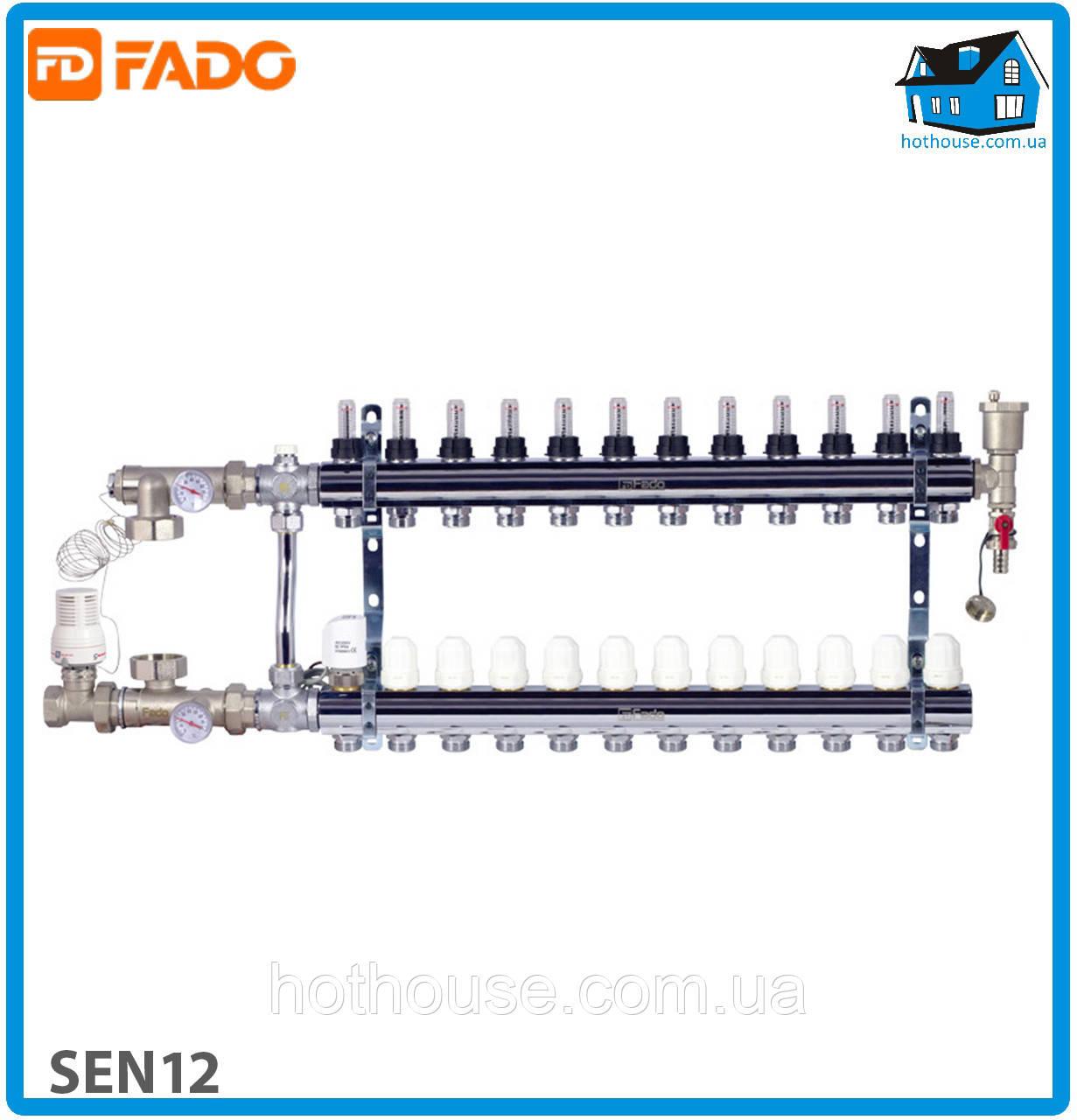 Комплект для підключення системи тепла підлога FADO SEN12 FLOOR 12 виходів