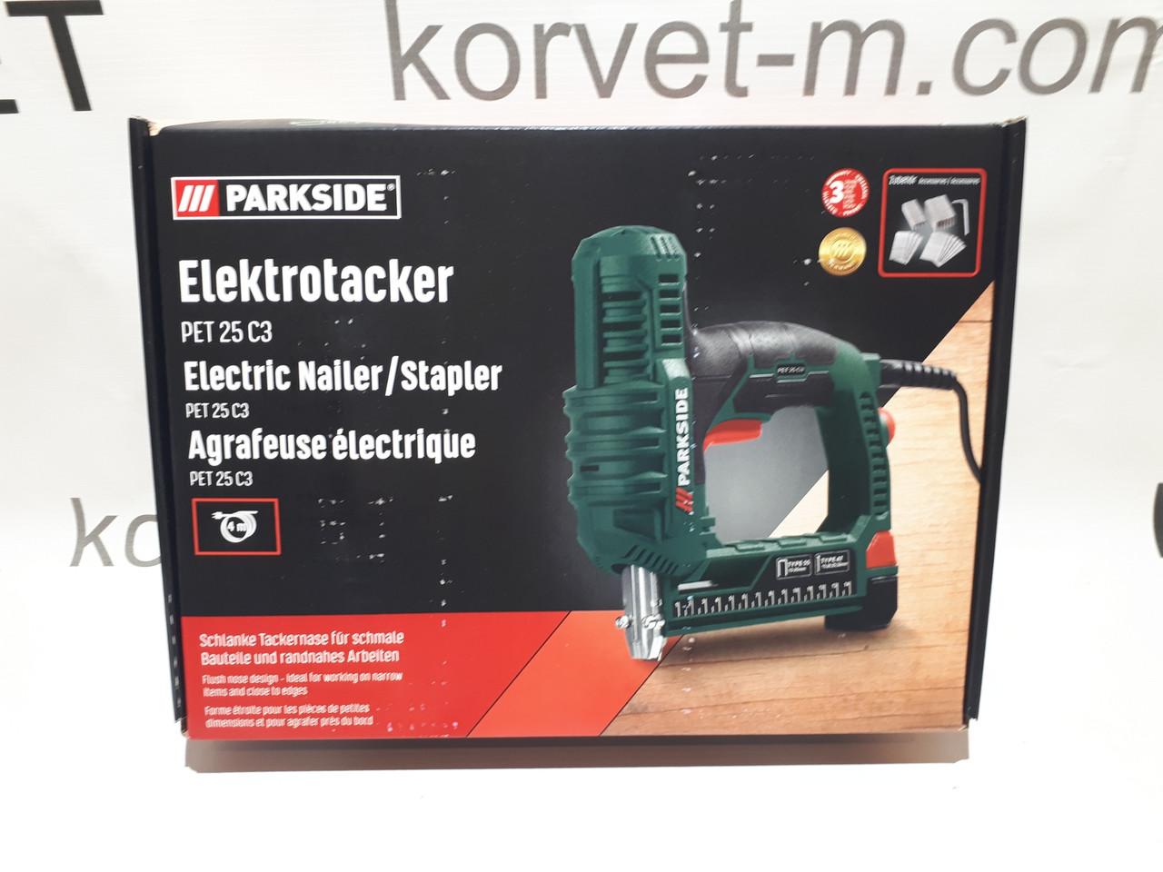 Электрический степлер Parkside PET 25 C 3 из Германии !