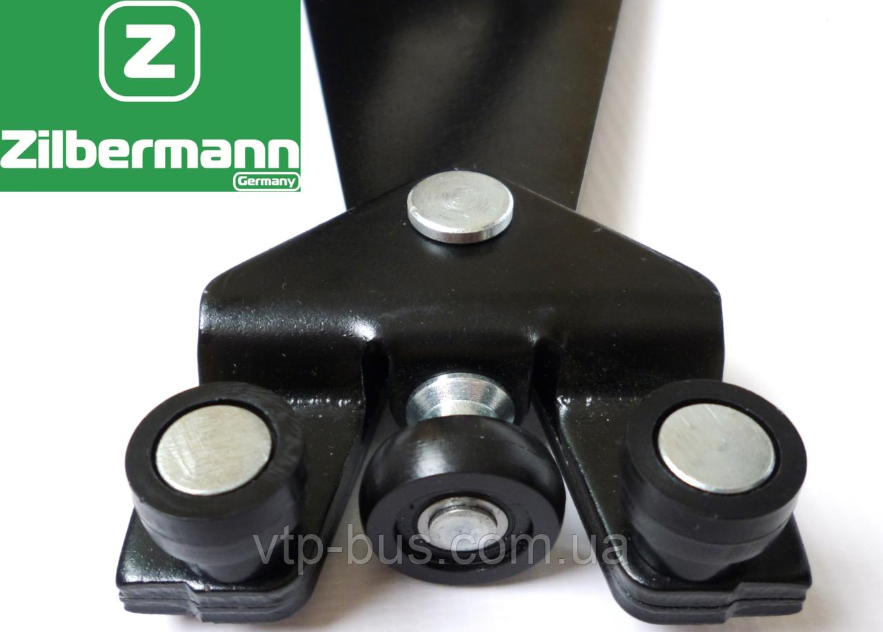 Ролики правой раздвижной двери с рычагом (низ) на Renault Trafic (2001-2014) Zilbermann(Германия) ZB02-017