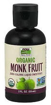 Now Foods, Органический фрукт монаха, жидкий подсластитель, 2 ж. унц. (59 мл)
