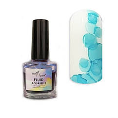 Акварельный лак Флюид Голубой от Nail Apex, 5 ml
