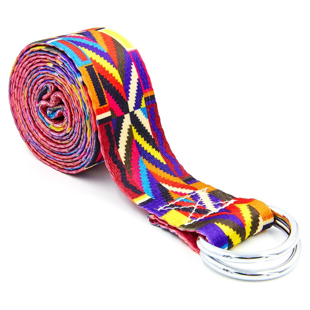 Ремень для йоги разноцветный (183x3,8 см) FI-6975-17