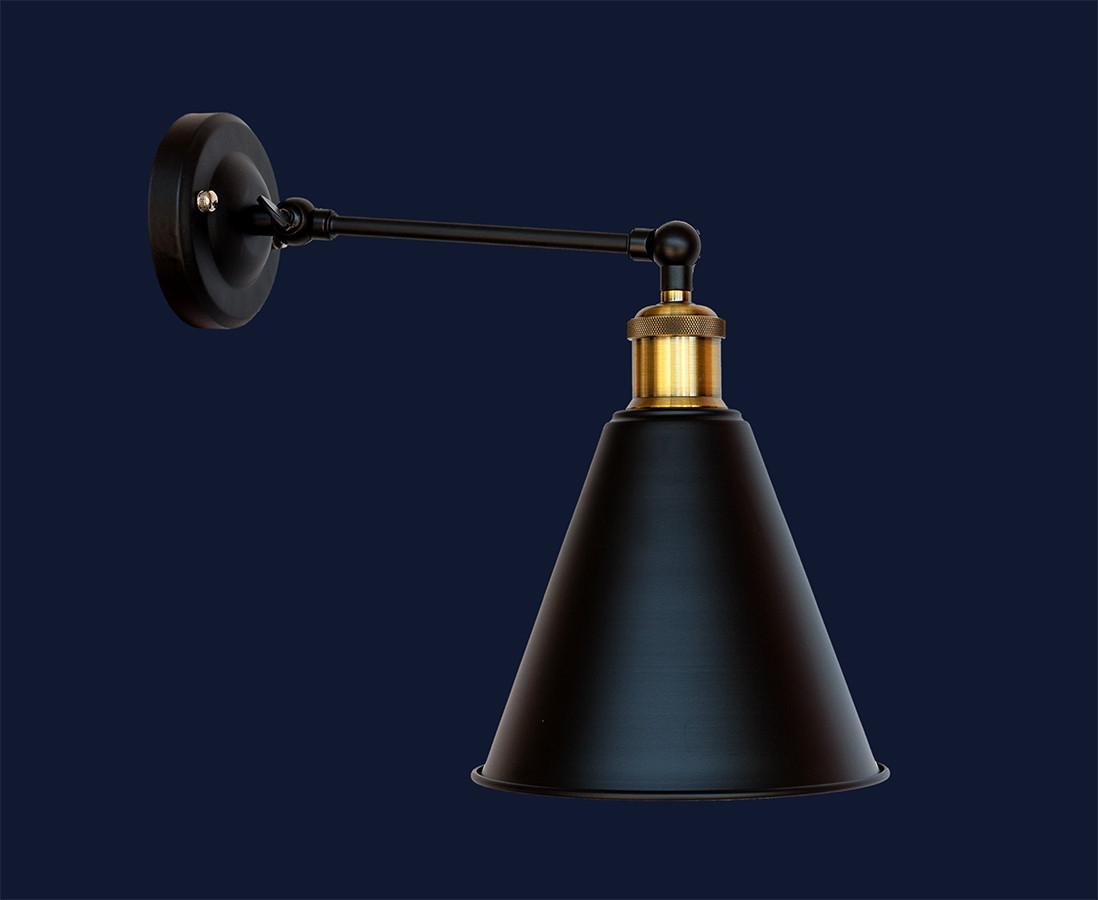 Настінний світильник лофт 707W101F11-1 BK