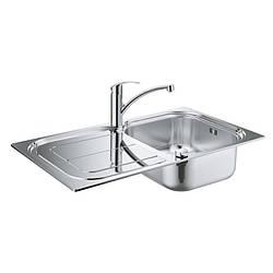Набор Grohe мойка кухонная K300 31565SD0 + смеситель Eurosmart 33281002