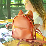 Рюкзак-сумка с ушками кота рыжий (RKU_008_BR), фото 2