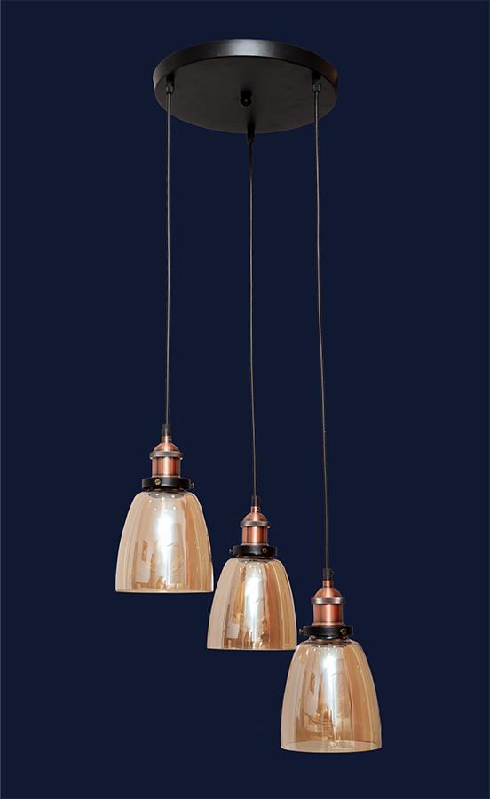 Подвесной светильник на три лампы 750MD41099F-3 BROWN (300)