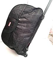 Дорожные сумки на колесах  с выдвижной ручкой (ЧЕРНЫЙ ПРИНТ СЛОВА)24х34х59см