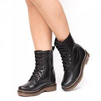 Ботинки зимние на коричневой подошве 987-00