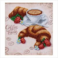 """А4 """"Круасани до кави"""" схема для часткової вишивки бісером"""