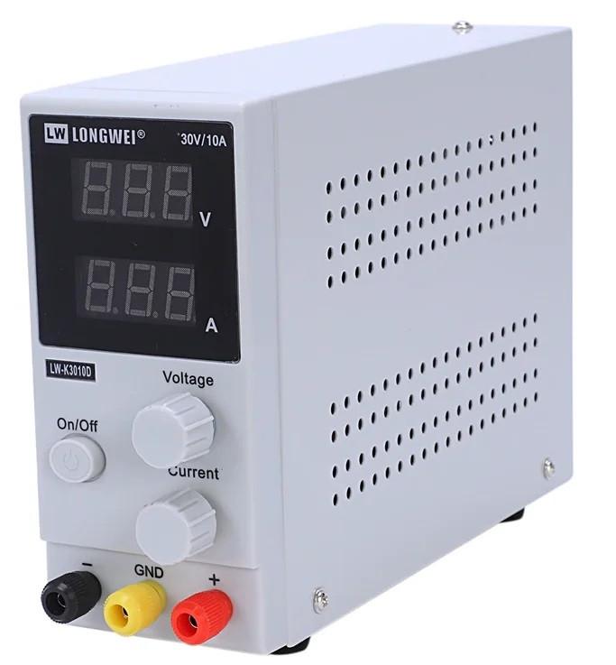 Лабораторный источник питания 220В - 0-30В, 0-10А