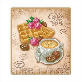 """А4 """"Вафлі до кави"""" схема для часткової вишивки бісером"""