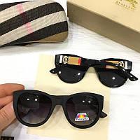 Солнцезащитные женские очки кошечки Burberry реплика Черные, фото 1