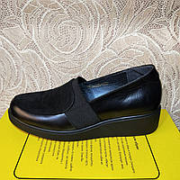Женские туфли на платформе кожаные