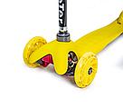 Детский трехколесный самокат   oter Mini (Желтый) (светящиеся колеса)   , фото 2
