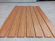 Профнастил с объемным рисунком  дерева 3D wood, размер листа 1,50мХ1,16м, фото 3