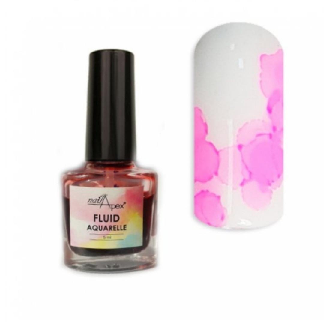 Акварельний лак Флюїд Рожевий від Nail Apex, 5 ml