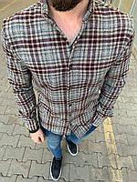 😜Рубашка - мужская теплая байковая рубашка серая