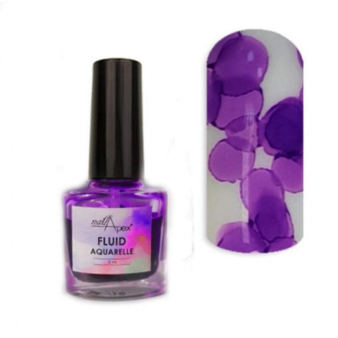 Акварельний лак Флюїд Фіолетовий від Nail Apex, 5 ml