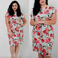 Очень красивое летнее платье большой размер 48,50,52 от производителя