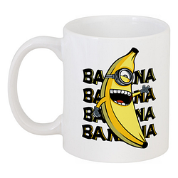 Кружка Fat Cat Миньон - Banana, banana, banana, banana (белая)