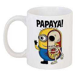 Кружка Fat Cat Миньон - Papaya! (белая)