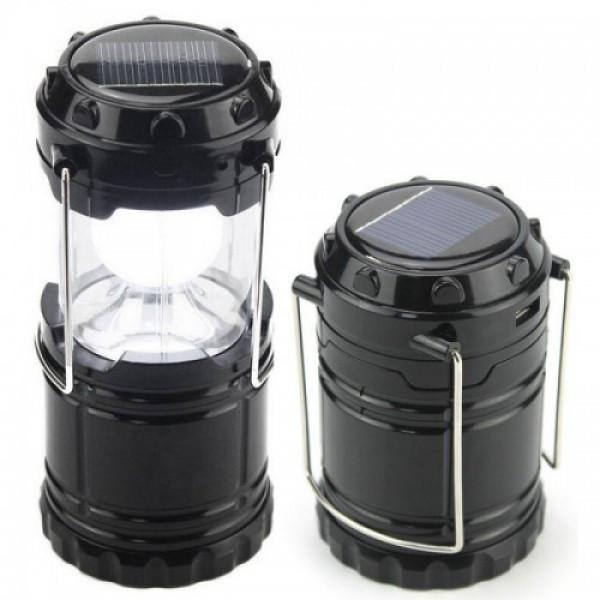 Кемпинговый фонарь LED лампа c power bank, солнечная панель G 85